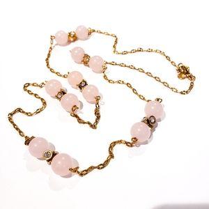 J. Crew Necklace Pale Pink Long Necklace
